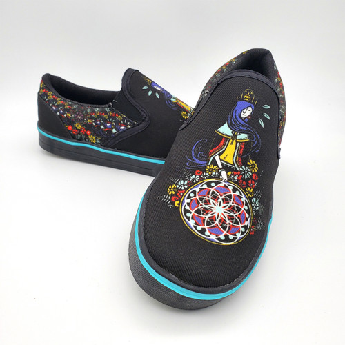 Buy these Stylish Lady of the Hoop Slip-on Shoes Online from Tree Huggers Co-op