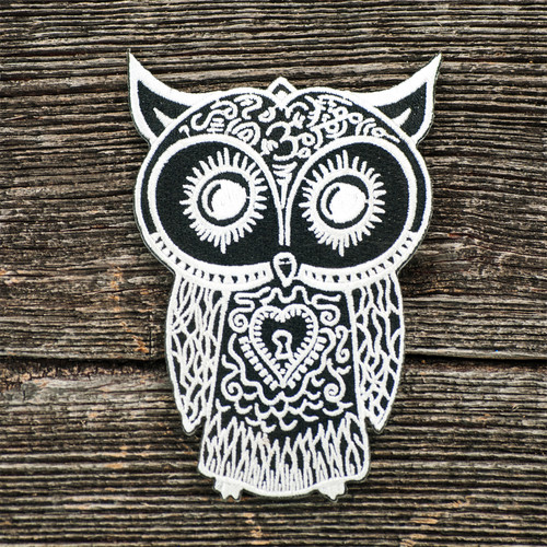 Buy a Owl Iron-on Patch Online from Tree Huggers