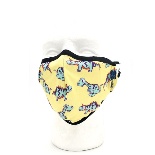 Buy a Dino Kids Face Mask (Yellow) Online from Tree Huggers