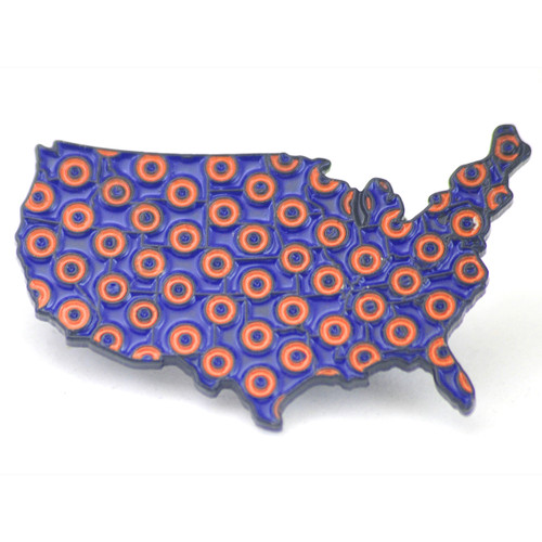Buy a Lower 48 Donut Pin Online from Tree Huggers