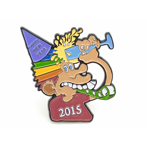 Buy a Phil & Friends New Years 2015 Pin Online from Tree Huggers