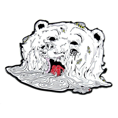 Buy a Aaron Brooks Melty Bear Pin Online from Tree Huggers