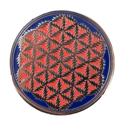 Buy a Grateful Dead Flower of Life Lightning Bolt Pin (Silver/Blue) Online from Tree Huggers