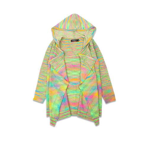 Buy a Rainbow hooded Knit Cardigan. Online from Tree Huggers Co-op