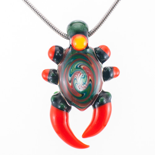 Buy a Wig Wag Horn Glass Pendant Online from Tree Huggers Co-op