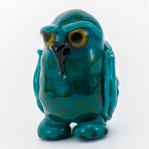 Buy a Owl Glass Pendant (Turquoise) Online from Tree Huggers Co-op