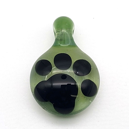 Buy a Glass Paw Pendant (Green) Online from Tree Huggers Co-op