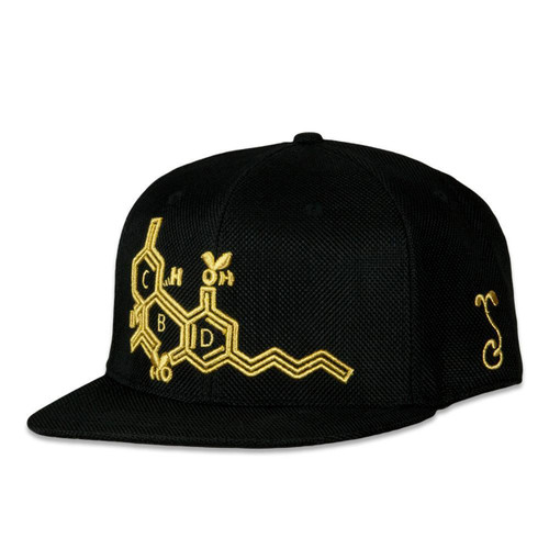 CBD Bee Fitted Hat (Black/Gold)