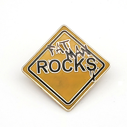 Fat Man Rocks Pin