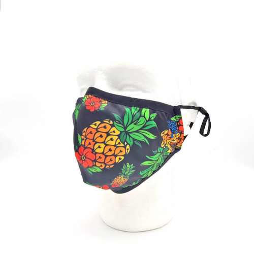 Buy a Pineapple Kids Face Mask (Black) Online from Tree Huggers