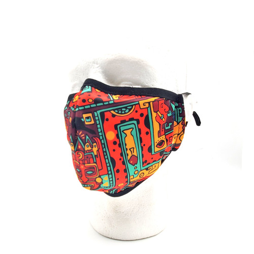Buy a Red Aztec Face Mask Online from Tree Huggers