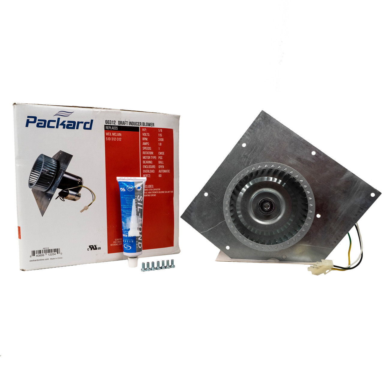 Packard 82702 York Direct Replacement Draft Inducer 1//50 HP 115 Volts 3000 RPM