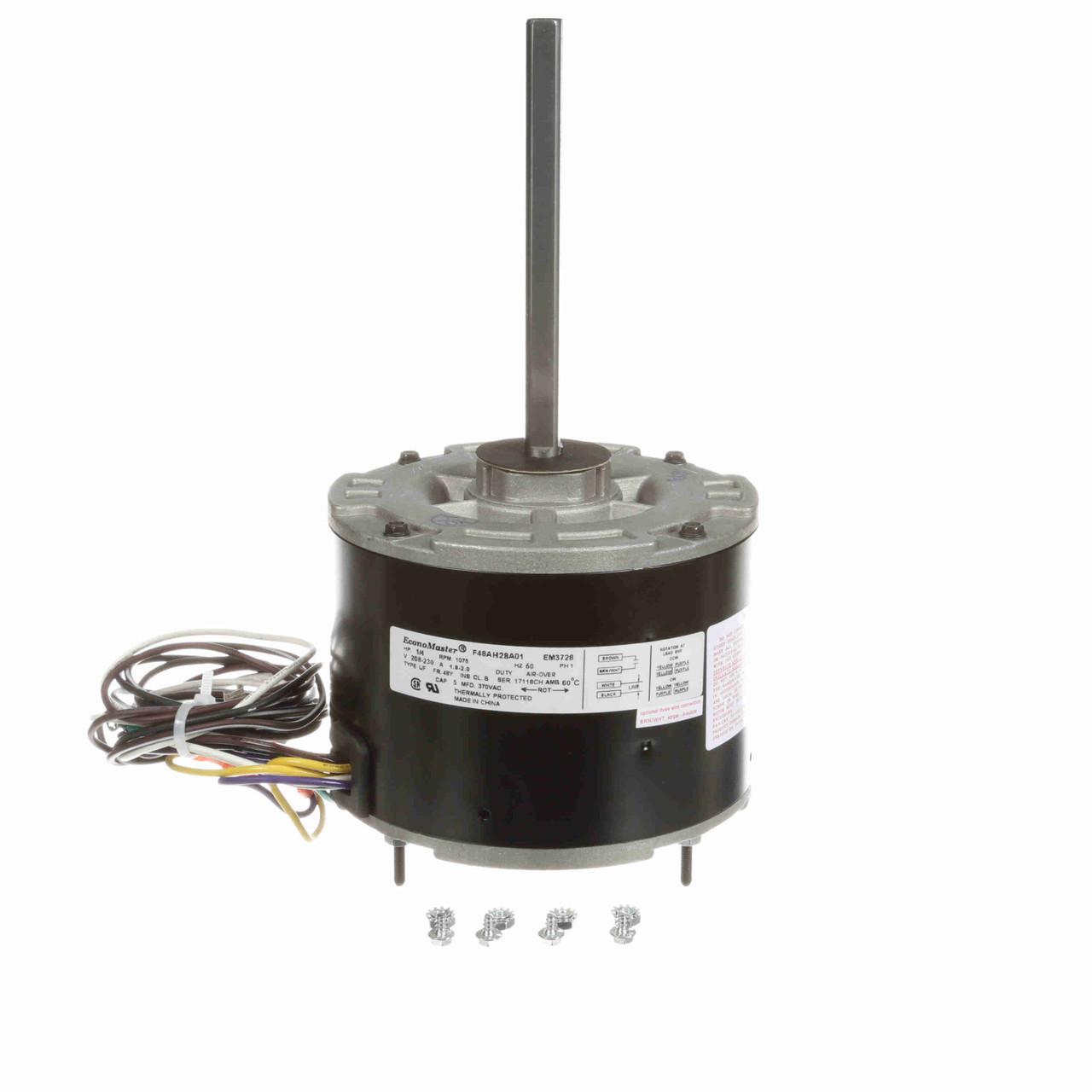 GE Genteq Replacement Condenser Fan Motor 1//4 HP 3728 3732