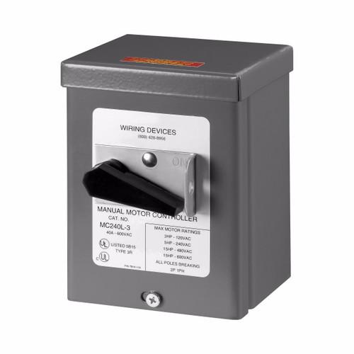 Eaton Wiring Devices AHMC240L-3 AHMC240L MOUNTED IN NEMA 3R ENCLOSURE