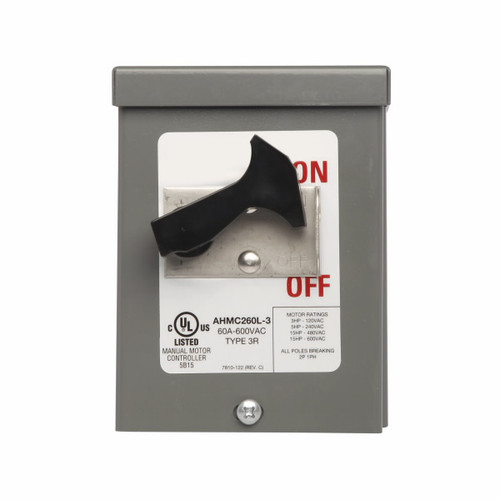 Eaton Wiring Devices AHMC260L-3 AHMC260L MOUNTED IN NEMA 3R ENCLOSURE