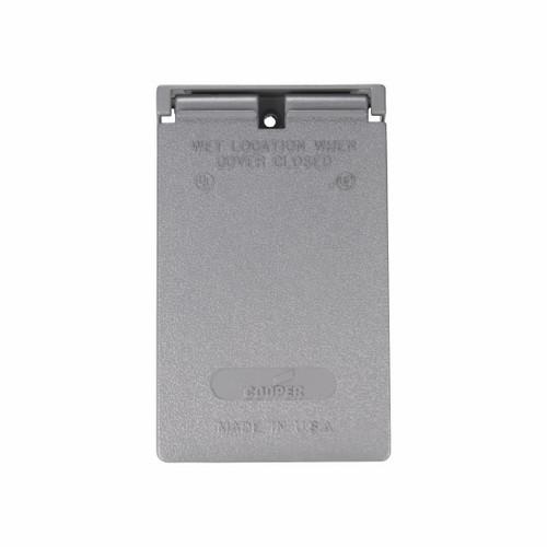 Eaton Wiring Devices S966-50 CVR 1G Deco WetLoc Vert Metal GY 50 pack