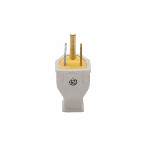 Eaton Wiring Devices SA399W Plug 15A 125V 2P3W Str Thermoplastic WH