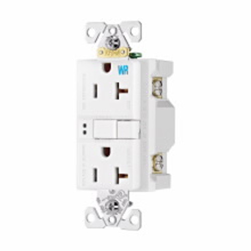 Eaton Wiring Devices WRSGF20FW GFCI WR ST Duplex 20A 125V WH NAFTA