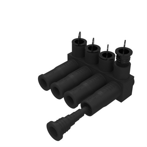 Morris Products 98026 Submersible Insulated Pedestal Connectors Multi-Port #12 - 350 MCM  6 Port