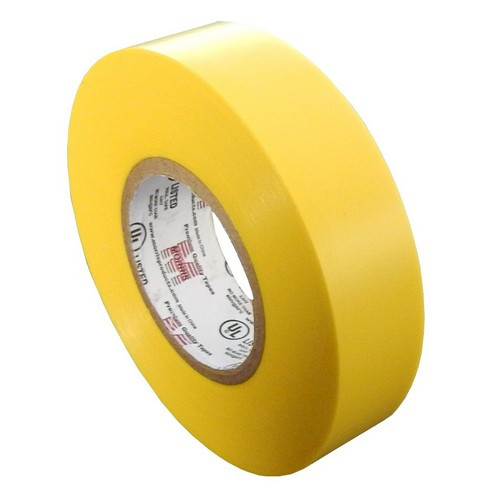 """Morris Products 60113 7 Mil Professional Grade Vinyl Electrical Tape Yellow 3/4"""" X 66'"""