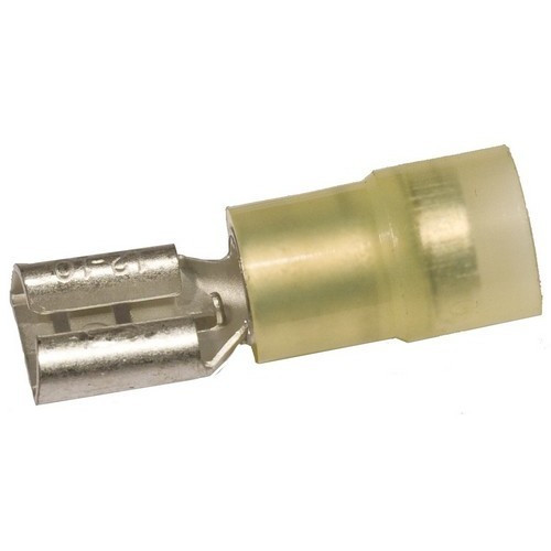 Morris Products 11934 Nylon Insulated Double Crimp Female Disconnects - 12-10 Wire, .032x.250 Tab