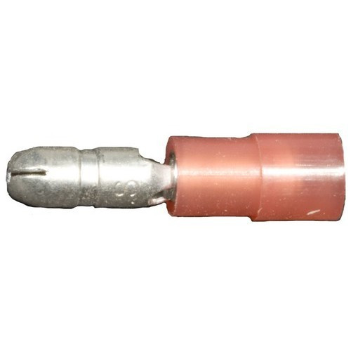 Morris Products 12052 Nylon Insulated Double Crimp Bullet Disconnects - 22-16 Wire, .157 Bullet
