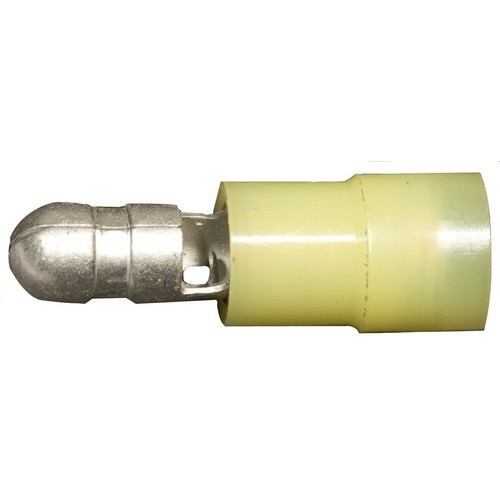 Morris Products 12058 Nylon Insulated Double Crimp Bullet Disconnects - 12-10 Wire, .197 Bullet
