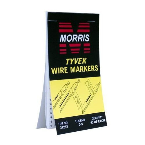 Morris Products 21272 Wire Marker Booklets +,-,AC, DC, pos, neg, grnd, neut, spare, blank