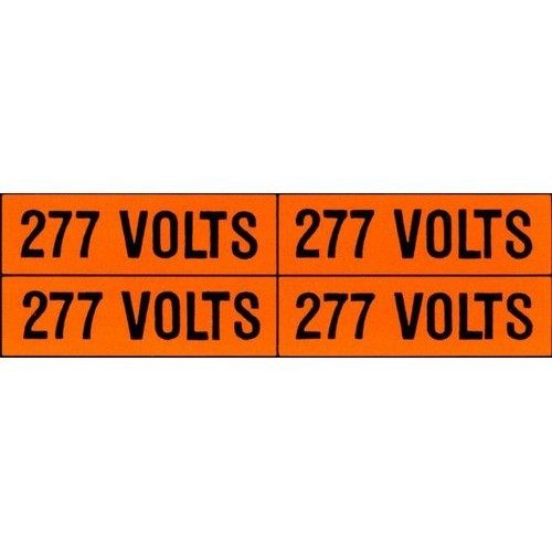 Morris Products 21338 Voltage Markers (4) 277V (5 Pack)