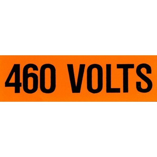 Morris Products 21364 Voltage Markers (1) 460V (5 Pack)
