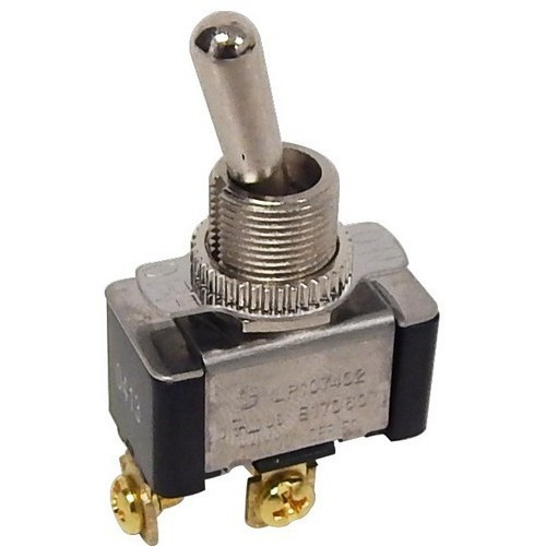 Morris Products 70070 Heavy Duty 1 Pole Toggle Switch SPST Screw Terminals with On-Off Plate