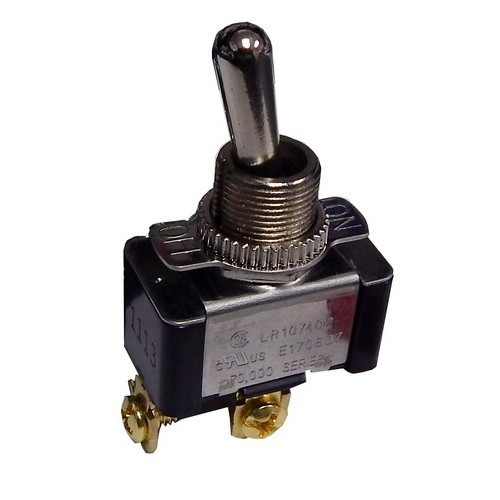 Morris Products 70072 Heavy Duty 1 Pole Toggle Switch SPST Screw Terminals with On-Off Plate