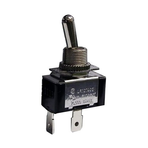 Morris Products 70071 Heavy Duty 1 Pole Toggle Switch SPST Quick Connect with On-Off Plate