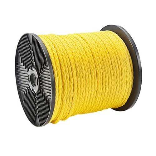 """Morris Products 31914 Twisted Polypropylene Pull Rope 1/4"""" Dia  1200 ft  1125 lb Tensile"""