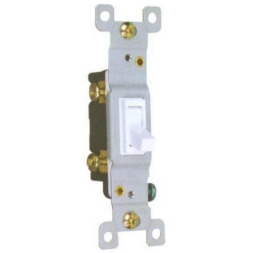 Morris Products 82031 Toggle Switch White 3 Way 15A-120/277V