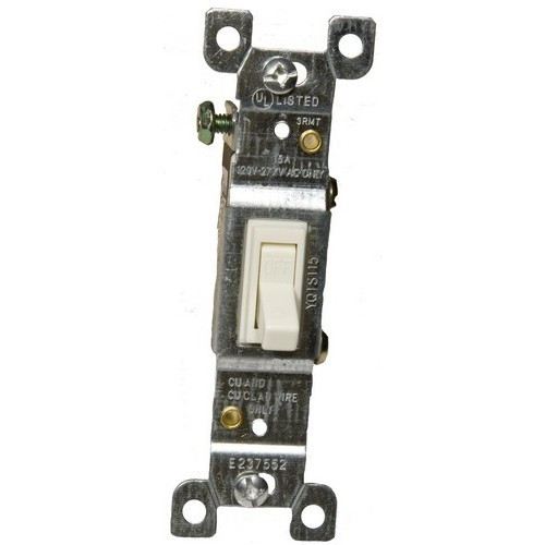Morris Products 82033 Toggle Switch Almond 3 Way 15A-120/277V