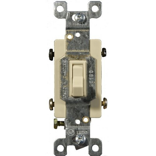 Morris Products 82040 Toggle Switch Ivory 4 Way 15A-120/277V