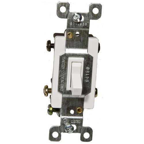 Morris Products 82041 Toggle Switch White 4 Way 15A-120/277V