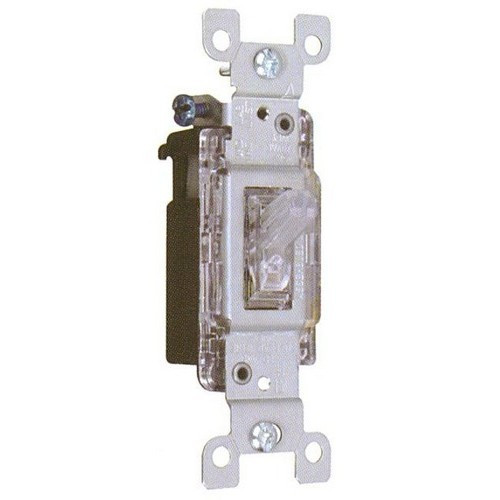 Morris Products 82046 Back Lit Toggle Switch 3 Way 15A-120/277V
