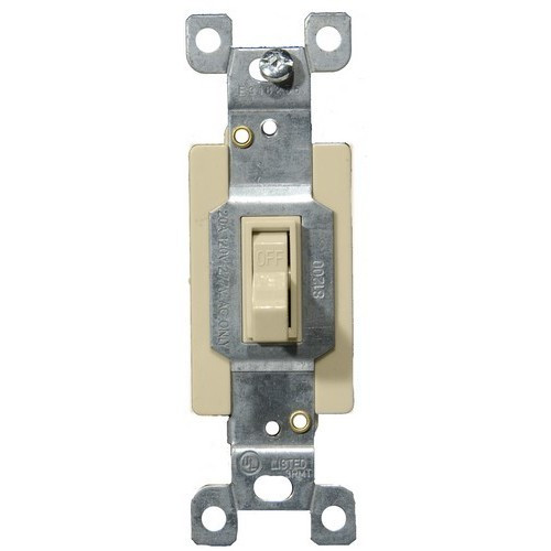 Morris Products 82020 Commercial Single Pole Toggle Switch Ivory 20A-120/277V
