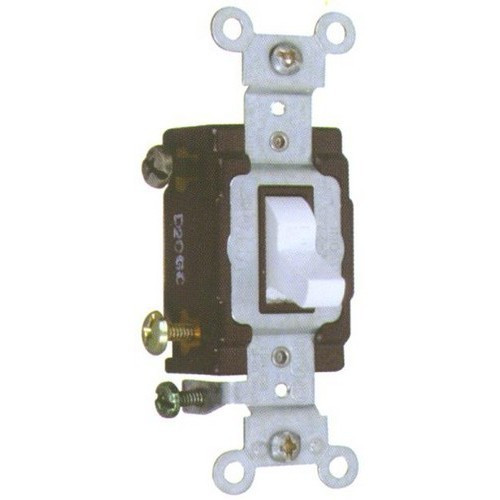 Morris Products 82021 Commercial Single Pole Toggle Switch White 20A-120/277V
