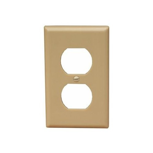 Morris Products 81730 Lexan Wall Plates 1 Gang Midsize Duplex Receptacle Ivory