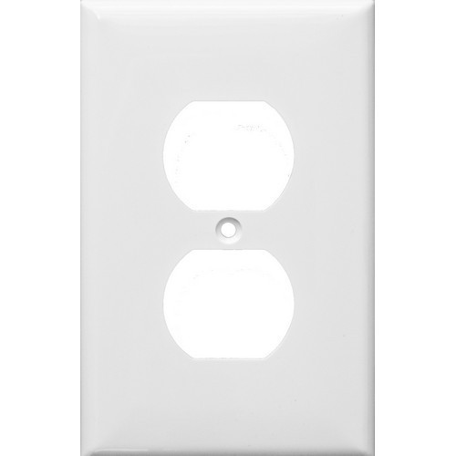 Morris Products 81731 Lexan Wall Plates 1 Gang Midsize Duplex Receptacle White