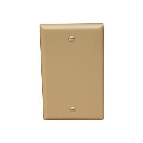Morris Products 81740 Lexan Wall Plates 1 Gang Midsize Blank Ivory