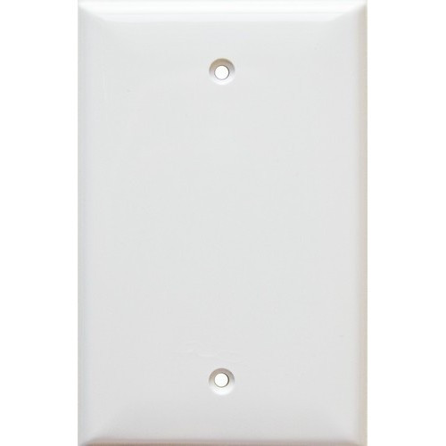 Morris Products 81741 Lexan Wall Plates 1 Gang Midsize Blank White