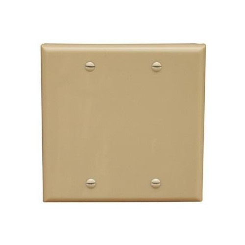 Morris Products 81745 Lexan Wall Plates 2 Gang Midsize Blank Ivory