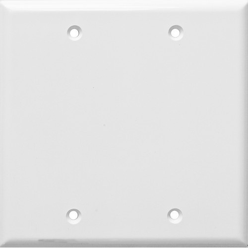 Morris Products 81746 Lexan Wall Plates 2 Gang Midsize Blank White