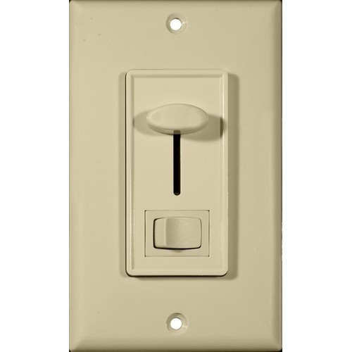 Morris Products 82750 Slide Dimmer With Switch Ivory Single Pole
