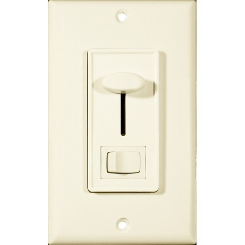Morris Products 82753 Slide Dimmer With Switch Almond Single Pole