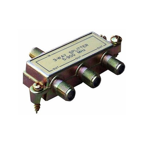 Morris Products 45040 3 Way Splitters with Ground Block 5-900 Mhz